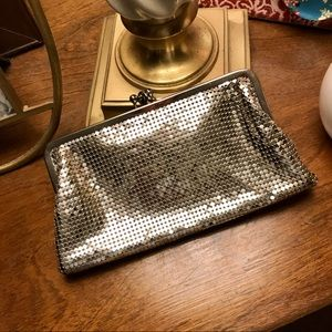 WHITING AND DAVIS METALLIC CLUTCH vintage MINT